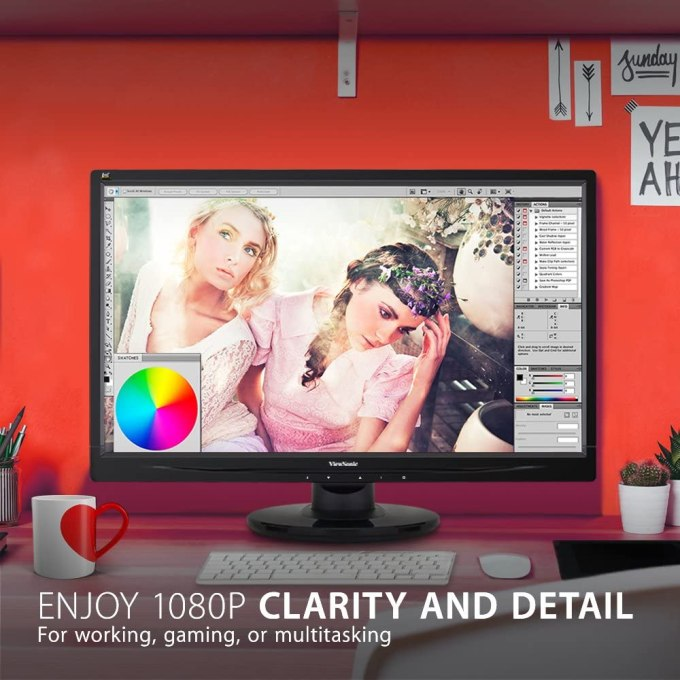 Computer Monitor-ViewSonic VA2446MH-LED 24 Inch Full HD 1080p LED Monitor